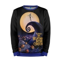 Мужской свитшот 3D «nightmare before christmas» blue