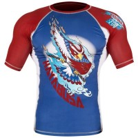 Рашгард Hayabusa Ninja Falcon Rashguard Short Sleeve - Blue/Red