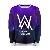 Мужской свитшот 3D «Alan Walker SPACE COLLECTION» white