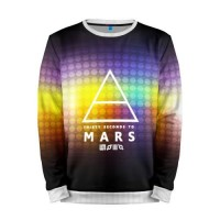 Мужской свитшот 3D «30 Seconds to Mars collection» white